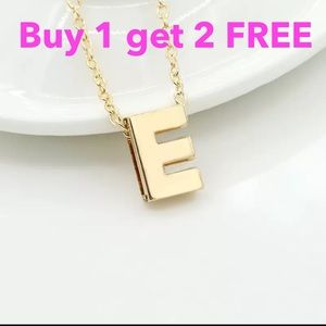 Jewelry - DIY letter initial name E necklace
